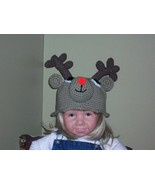 Rudolph the Red Nose Reindeer Toddler Crochet h... - $25.00
