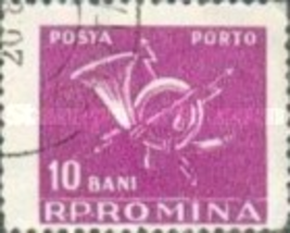 Romania (used postage due stamp) 1957 National Post & Telecommunications... - $0.01