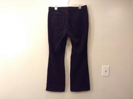 Ladies Talbots Curvy Dark Chocolate Brown Corduroy Pants Jeans Sz 14P image 2