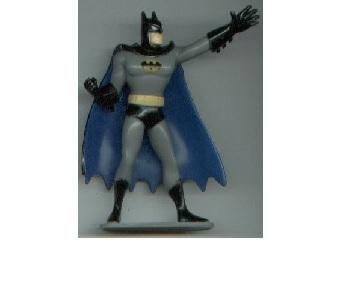 vintage Batman puzzle + CATWOMAN pinback button + Joker PVC figure DC Comics