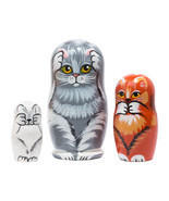 """No Evil Cats Nesting Doll - 4"""" w/ 3 Pieces - $20.00"""