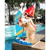 The Shredder Surfer Dude Gnome Statue - $35.80