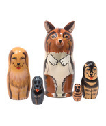 "Collie Nesting Doll - 6"" w/ 5 Pieces - $48.00"