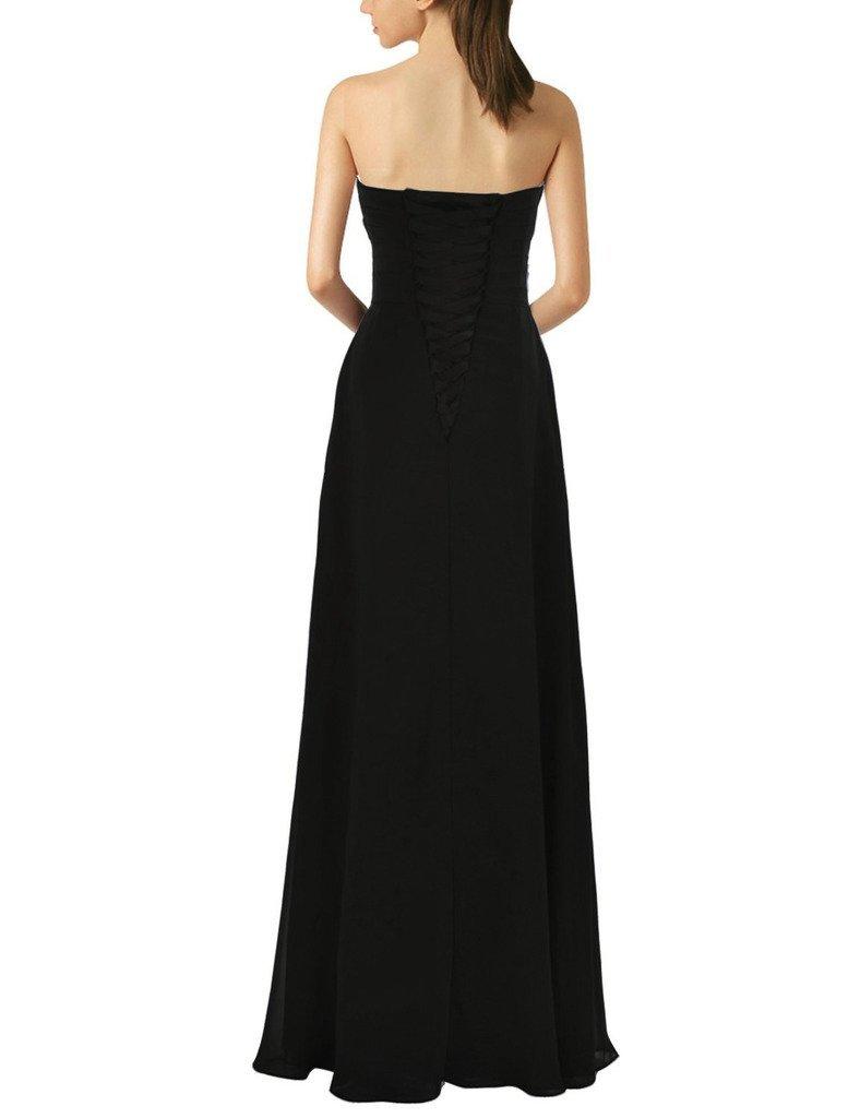Lemai Sweetheart Pleats Long A Line Corset Formal Women Prom Bridesmaid Dress... image 2