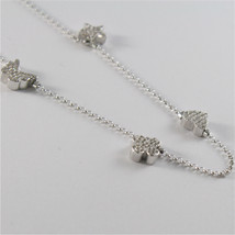 925 RHODIUM SILVER JACK&CO NECKLACE STAR BUTTERFLY HEART CLOVER MADE IN ITALY image 3
