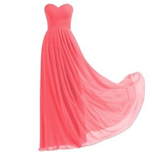 Lemai Criss Cross Long A Line Pleats Chiffon Corset Prom Evening Formal Bride... - $89.99