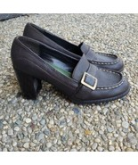 Tommy Girl Brown Chunky Heel Leather Upper Pumps - Size 6 - $24.99