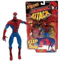 """Toy Biz Year 1998 Marvel Comics Spider-Man Sneak Attack Flip 'N Trap 6"""" ... - $44.99"""