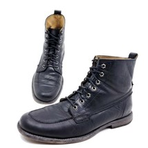 Frye Philip Mens Size 8.5 Moc Toe Ankle Boots Style 87901 Black Leather ... - €77,62 EUR