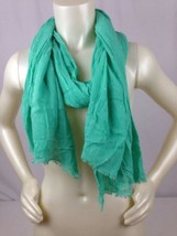 """24""""x74"""" Scarf Shawl Wrap Cover Gap Mint Green India One Size Viscose - $14.70"""