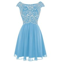 Sheer Beaded Corset Short A Line Prom Homecoming Dresses Cocktail Party Gowns... - $109.99