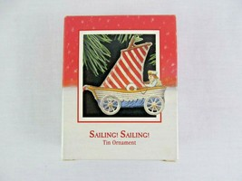 Hallmark Keepsake Ornament Sailing Sailing Tin 1988 Christmas - $9.89