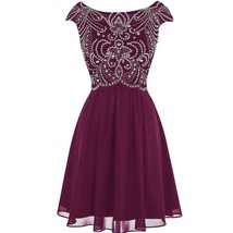 Sheer Beaded Corset Short A Line Prom Homecoming Dresses Cocktail Party ... - $119.99