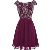 Sheer Beaded Corset Short A Line Prom Homecoming Dresses Cocktail Party ... - $126.99
