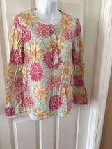 Women's Tommy Hilfiger Floral Popover Lightweight Tunic Top Blouse Shirt... - $14.86