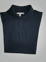 Nordstrom Solid Short Sleeve Knit Men's Polo T-Shirt Navy M - $26.06