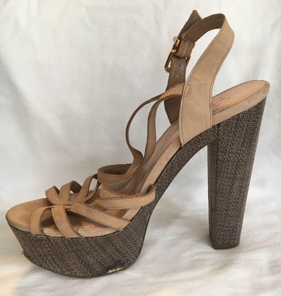 9d4c40b53c Jessica Simpson Beige Platform Brown Weave and 50 similar items