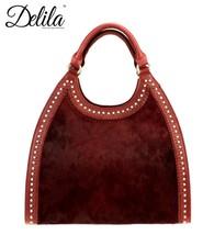 LEA-6006 Delila 100% Genuine Leather Collection-Burgundy - $186.11