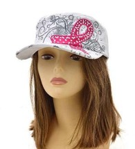 White BREAST CANCER AWARENESS FASHION Vintage Original hat - $19.80
