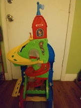 Fisher Price Little People Sit 'N Stand Skyway with 2 cars  - $55.00