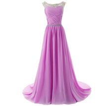 Lemai Sheer Crystals Criss Cross Long Beaded Corset A Line Prom Evening Dress... - $109.99