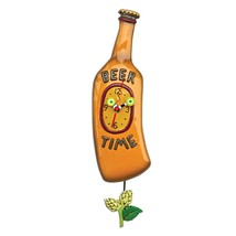 Allen Designs Beer Time Pendulum Wall Clock - $54.00