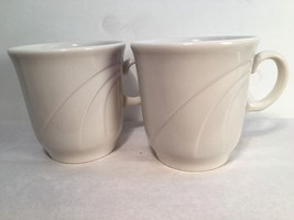 Syracuse China Co. Lot of 2 Cups Coffee Tea Hor Chocolate White Modern - $9.89