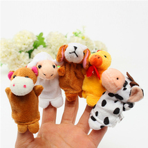 10 pcs Family Finger Puppets, Cloth Doll Baby Educational Hand Toys - $7.90