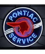 Neonetics Pontiac service neon sign with silkscreen backing - $345.00