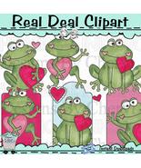 Hoppy Valentines Frogs Clip Art - $1.25