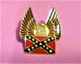 Collectible Confederate Flag Spread Eagle Wing Pin NEW - $13.95