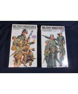 2 Tamiya Military Miniatures Army Assault Infantry and German Machine Gu... - $32.71