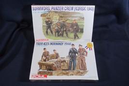 2 DML Models WW2, Tiger Aces (Normandy), Survivors, Panzer Crew, Sealed - $25.23