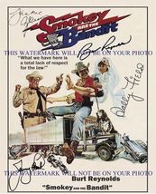 SMOKEY AND THE BANDIT CAST SIGNED AUTOGRAPHED 8x10 RP PROMO PHOTO BURT R... - $17.99