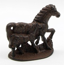 Cast Iron 2 Horse Doorstop Paperweight Figurine... - $29.65