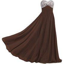 Lemai Sweetheart Chiffon A Line Shiny Crystals Corset Long Prom Formal Evenin... - $109.99