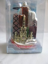 CHICAGO Handcrafted Glass City Scape   Ornament NOBLE GEMS  The Bean - $24.70