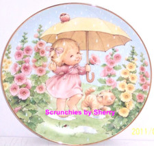 Puddle Pals Girl Kitty Rain Blessed Are Ye Collector Plate Danbury Mint ... - $59.95