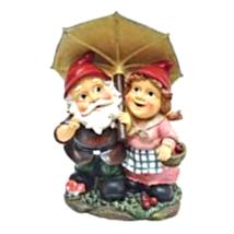 Rainy Day Gnomes Under an Umbrella Garden Statue - $52.39