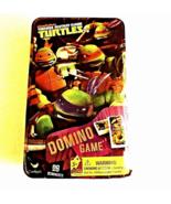 New Sealed Teenage Mutant Ninja Turtle Dominoes Game Set in Metal Tin Ag... - $10.95