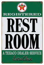 Reproduction Texaco Extra Clean Restroom Gas Station Sign 12X18 - $25.74