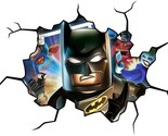 LEGO BATMAN CRACKED WALL EFFECT Decal STICKER Home Decor Art Mural Super Heroes