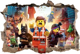 LEGO MOVIE Smashed Wall 3D Decal Removable Grap... - $6.99 - $19.99