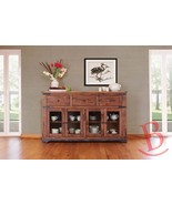 "Rustic Jacob 70"" Console TV Stand Buffet Real Solid Wood Western Style - $1,064.25"