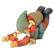 Clumsy Karl the Mushroom Hunter Gnome Statue - $42.39