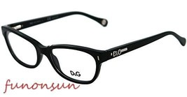 Dolce & Gabbana Women's Eyeglasses D&G DD1205 501 Black Rectangle Frame ... - $92.15