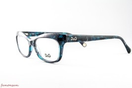 Dolce & Gabbana Women's Eyeglasses D&G1232 2251 Blue Marble Rectangle Fr... - $121.25