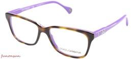 Dolce & Gabbana Women's Eyeglasses D&G DD1238 2608 Havana Violet Frame 52mm - $115.43