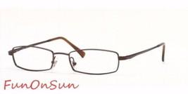 Ray Ban Eyeglasses RB6096 2511 Brown Gunmetal Rectangle Frame 51mm Authentic - $76.63