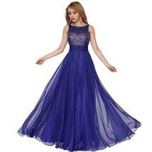 Lemai Royal Blue Beaded Sheer A Line Women Formal Long Corset Prom Evening Dr... - $159.99